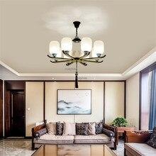 Chinese Style Retro Ceramic Apricot Pendant Lamp Modern Home Decor Lighting hanglamp lustre Living Room Luxury Pendant Lights