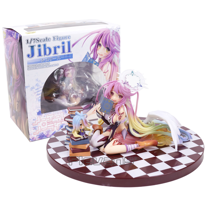 NO GAME NO LIFE Jibril 1/7 Scale PVC Figure Collectible Model Toy 14cm 15cm retail sexy anime no game no life shiro 1 7 scale boxed pvc action figure toy collection model