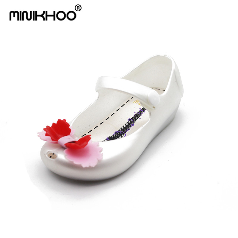 Mini Melissa New Double Layer Bow Girl Jelly Sandals Children Shoes Jelly Shoes Super Soft Baby Sandals Waterproof 13cm-15.5cm