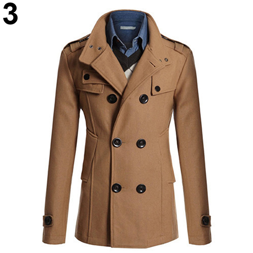 Autumn Winter Men Fashion Slim Business Long Section Trench Coat Windbreaker Lapel Button Jacket Outwear Casual Coat