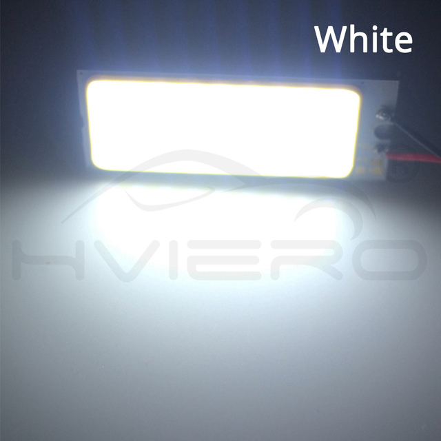1X White High Bright T10 Cob 36Led Car Led DC 12V w5w C5W C10w 194 Panel Lamps Auto Door Reading Backup Dome Festoon Light BA9S