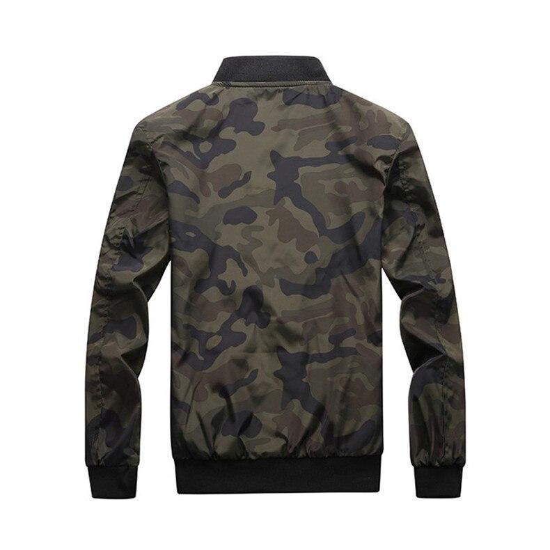 7XL Jackets Men 2019 Camouflage Jacket Male Coats Camo Bomber Mens Jacket Brand Cloth Outwear Baseball Collar Plus Size 5XL 6XL 09