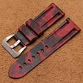 La última! accesorios correa de reloj para Panerai Correa de reloj con 24mm camuflaje rojo