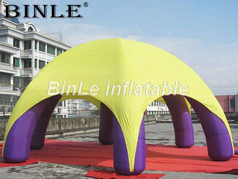 Гигантский портативный надувные паук палатка air куполообразной палатки с 6 ноги для выставки Вечерние