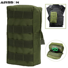 Airsson Airsoft Sports Military 600D MOLLE Pouch Bag Tactical Utility Bags Vest Gadget Hunting Waist Pack Outdoor Equipment(China)