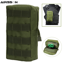 цена Airsoft Sports Military 600D 21X11.5CM MOLLE Utility Tactical Vest Waist Pouch Bag For Outdoor Hunting Wasit Pack Equipment