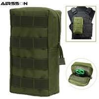 Airsson Airsoft Sports militaire 600D MOLLE sac de poche tactique sacs utilitaires gilet EDC Gadget chasse taille Pack équipement de plein air