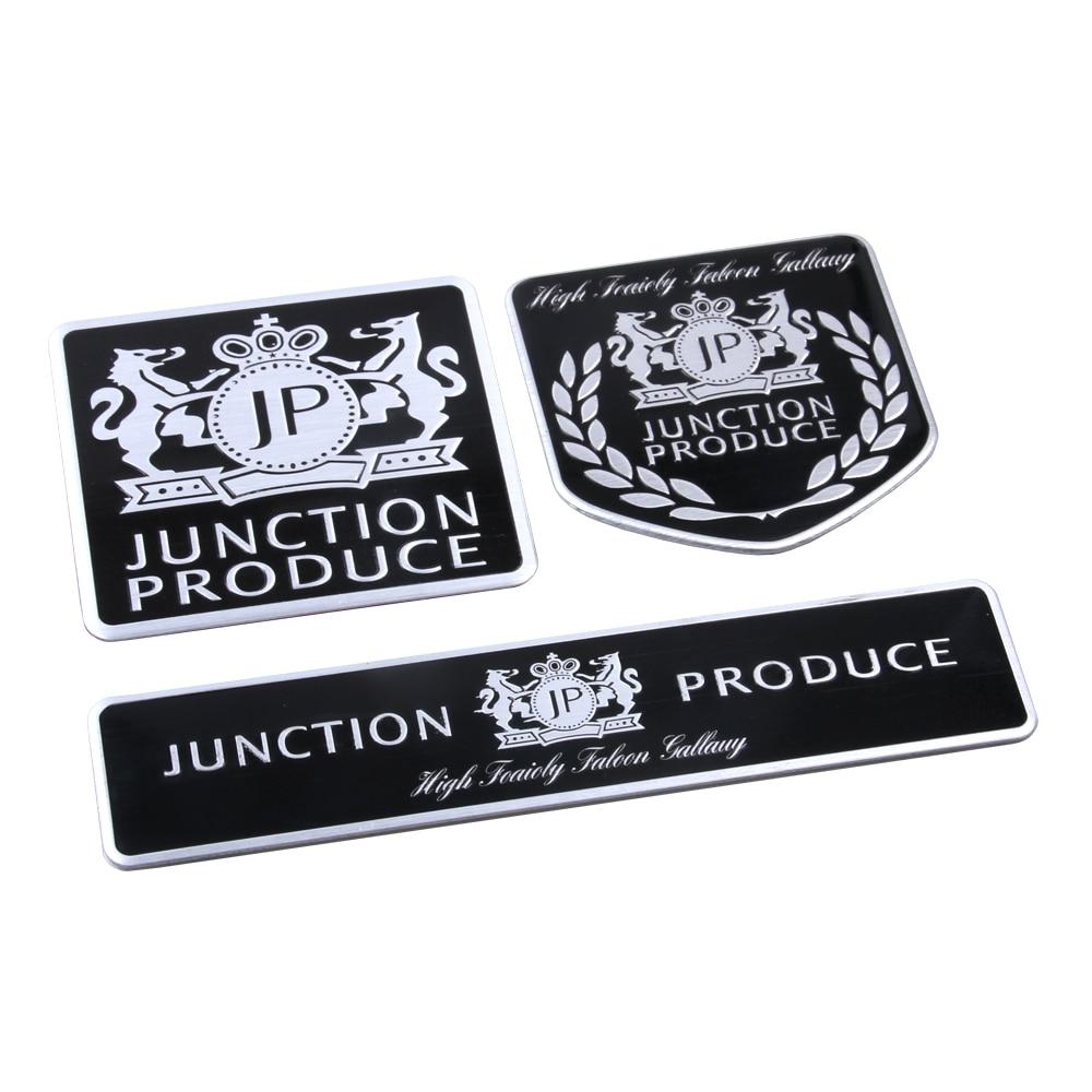 В JP соединения производить черный тонкий Алюминиевый чертеж стайлинга автомобилей герба знак прохладный логотип 3D наклейки для VIP автомобиль длинный квадрат / щит