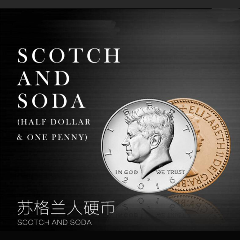 Scotch And Soda Free Shipping Coins Magic Tricks Toys Props Wholesale And Retail Email Explanation Video