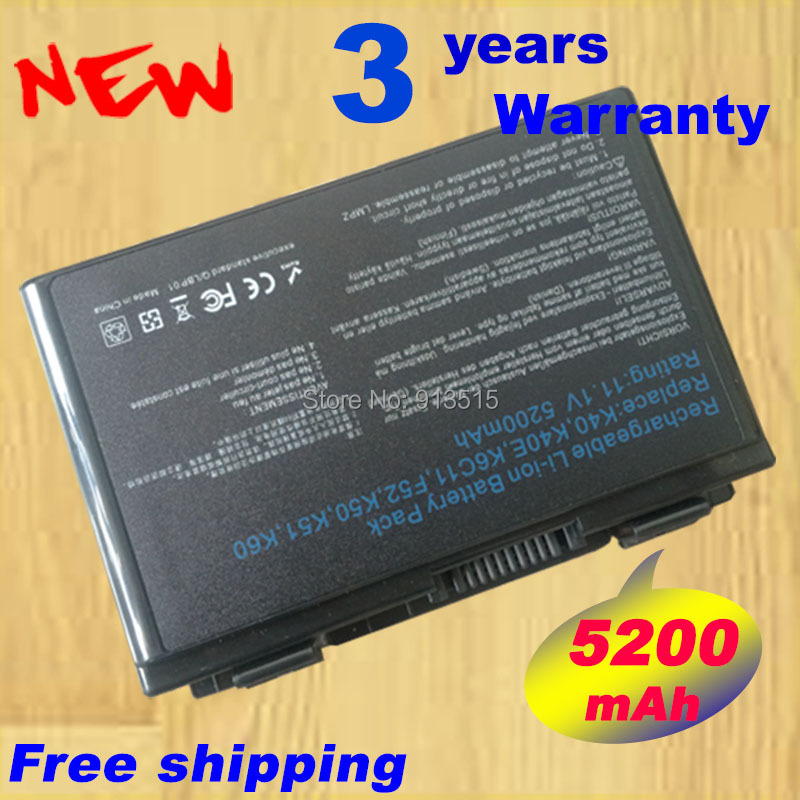 4400mAh laptop Battery For Asus A32-F52 A32-F82 F82 K40 K40in K50 K50in k50ij K50ab K42j K51 K60 K61 K70 P81 X5A X5E X70 X8A