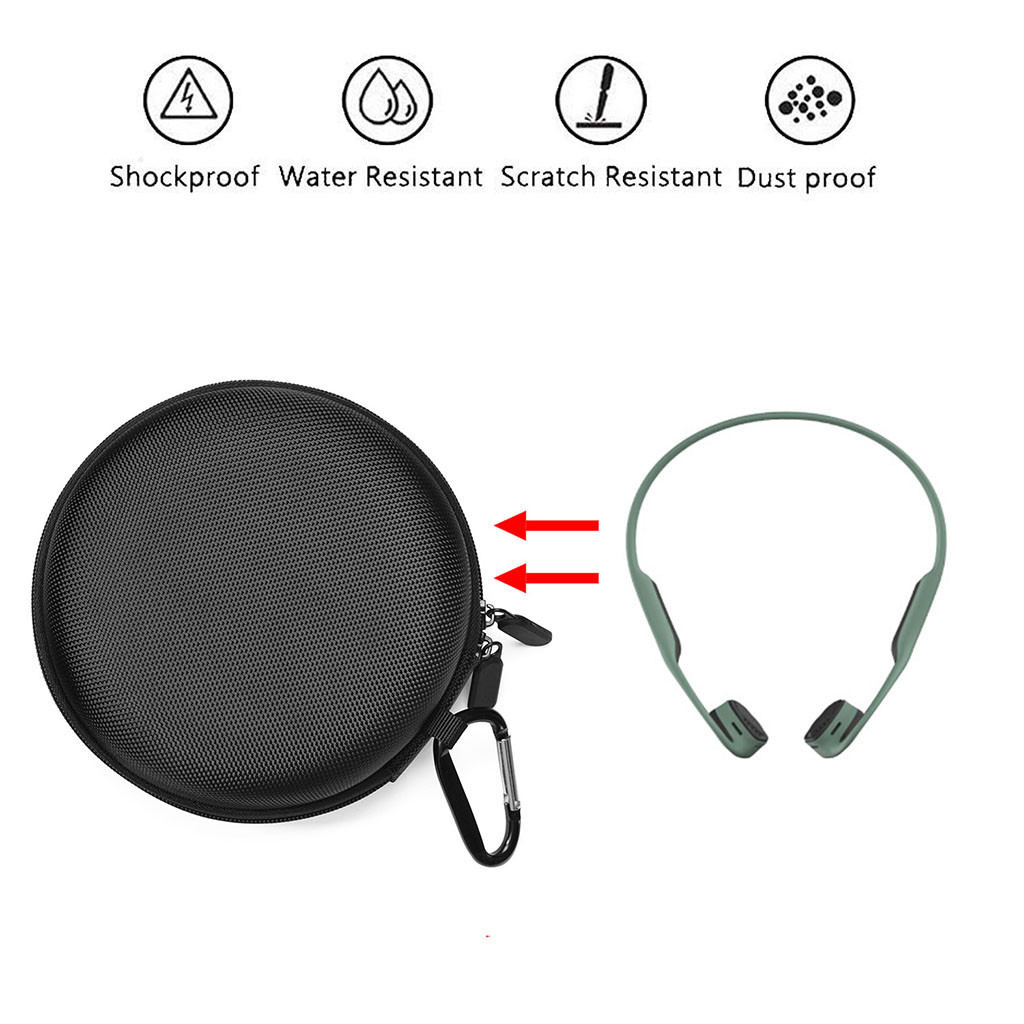 Travel Bag Portable Case for AfterShokz AS650Trekz Air Wireless Bone Headphones  Airpod Case Cover