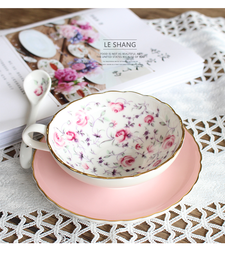 200ML British Royal Bone China Coffee Cups Lover Couple Mugs Ceramic Tea Cup Saucer Set Advanced