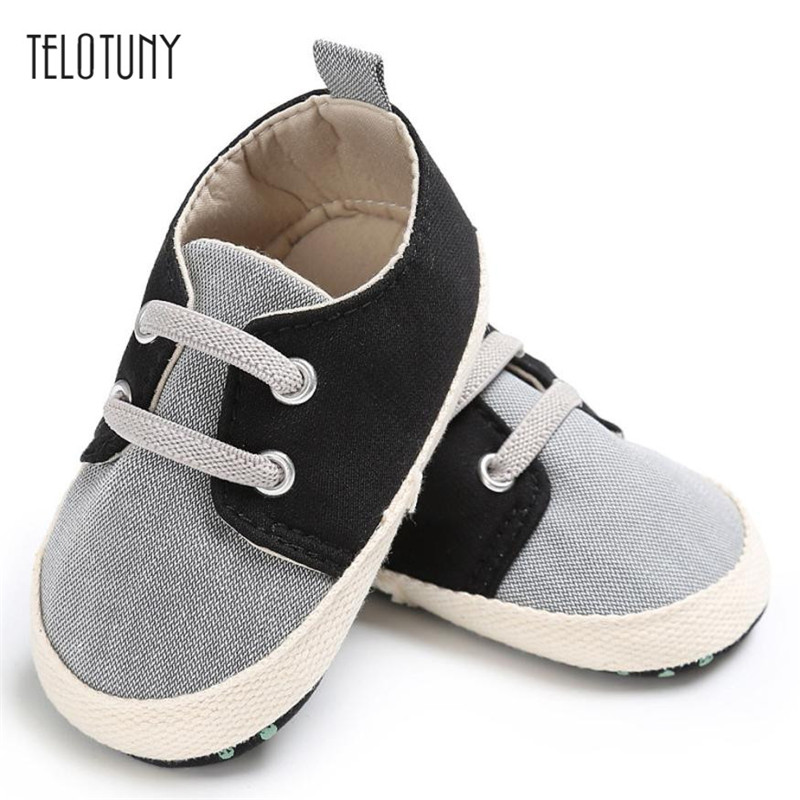 TELOTUNY Baby Infant Kids Girl boys Soft Sole Crib Toddler Newborn Shoes Canvas comfortable Anti-slip Crib Shoes S3FEB22