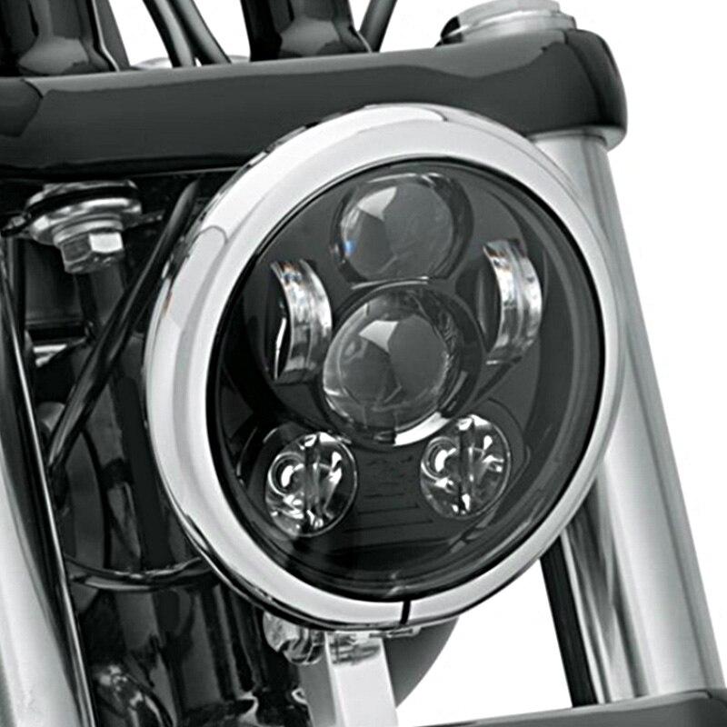 """Prix pour Noir 5.75 """"led phare Harley moto 5 3/4"""" Led phare Pour Harley Moto Noir Projecteur Daymaker LED phare"""