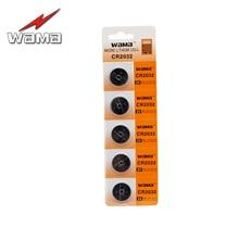 5pcs/pack Wama CR2032 Button Cell Coin Batteries BR2032 DL2032 EA2032C ECR2032 L2032 Li-ion Lithium 3V Car Remote Battery стоимость
