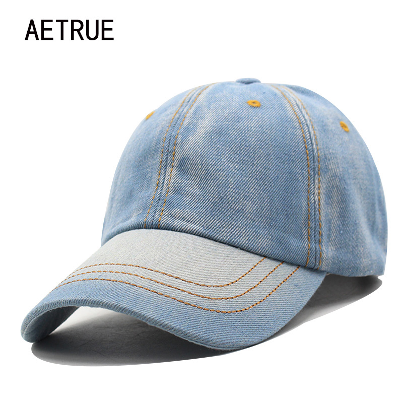 Baseball Cap Men Women Snapback Caps Brand Homme Hats For Women Falt Bone Jeans Denim Blank Gorras Casquette Plain 2018 Cap Hat new high quality warm winter baseball cap men brand snapback black solid bone baseball mens winter hats ear flaps free sipping