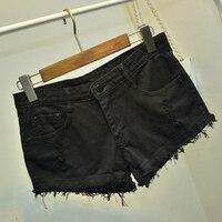 Women Denim Shorts Summer Hot Scanties Ripped Hole Low Waist Cut Off Sexy Shorts Plus Size