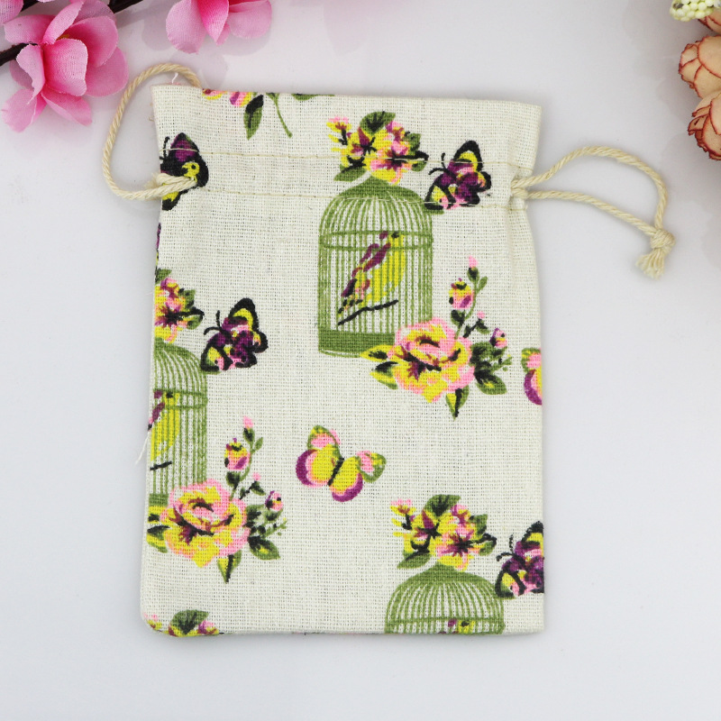 50pcs 10x14cm Cotton Drawstring Bag Sachet Decorative Bags Product Packaging Gift Bags Jewelry Festive Party Supplies