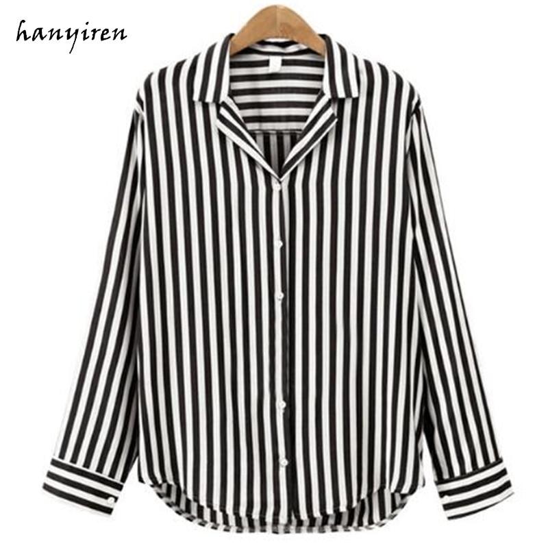 New Spring Autumn Women Blouse Flower V-neck Long Sleeve Work Shirts Women Office Tops Striped Blouse For Business