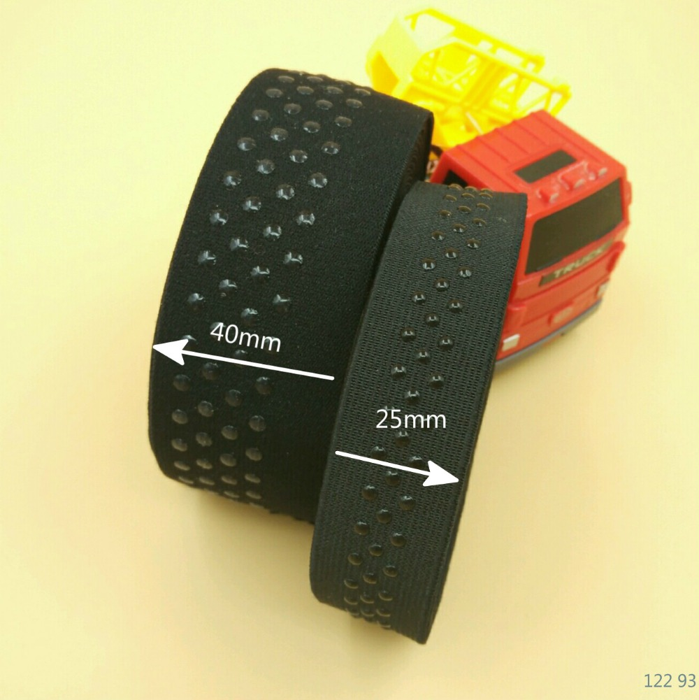 NEW 5M 40mm 25mm Black Point Silicone Elastic Gripper For Sewing Diy Corset Knee Wrist Protectors Yoga Accessories