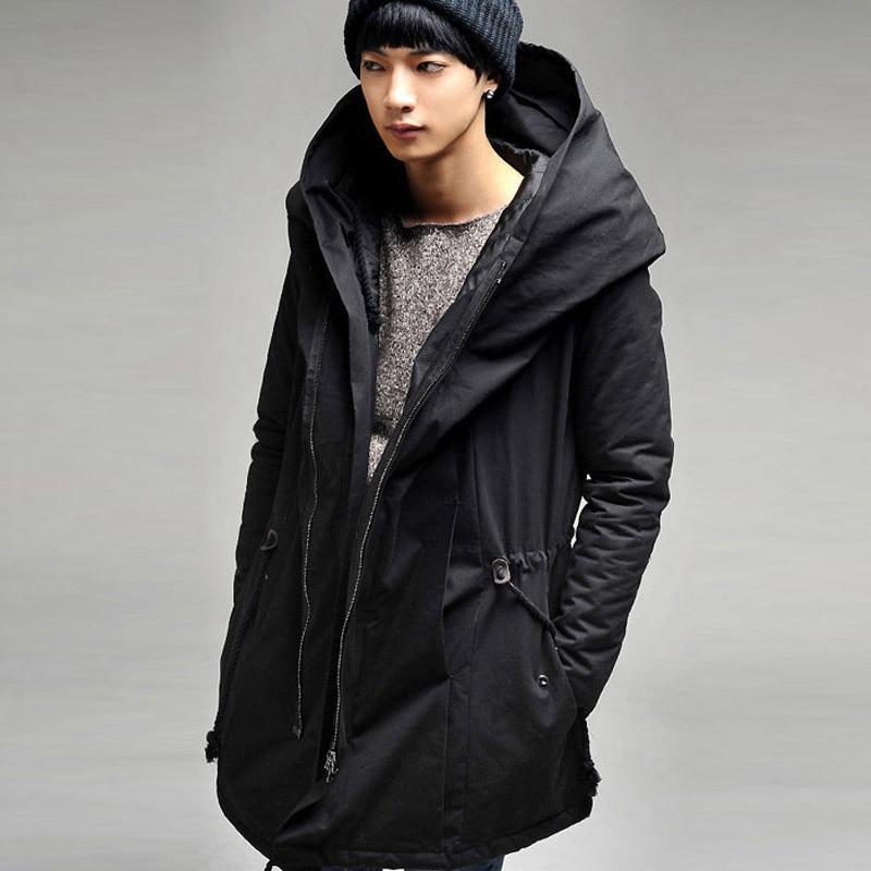 최고 브랜드 새로운 패션 남성 겨울 재킷 캔버스 따뜻한 긴 착실히 보내다 후드 코트 파카 플러스 사이즈 M-4xl 무료 배송