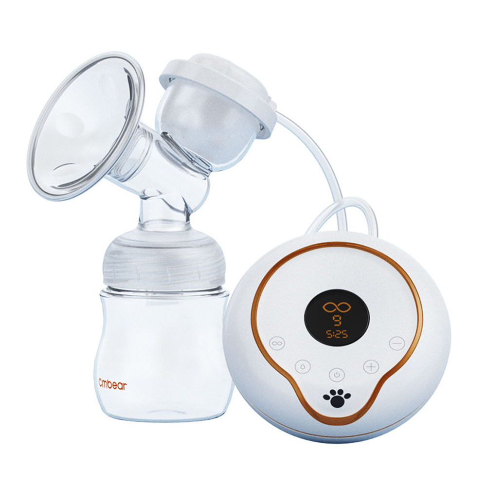 Electric Breast Pump Breast 9 Gears Suction Massage Adjustment Milk Pump with LCD Display BM88 automatic electric breast pump lcd display portable silent milk pump breast feeding electric breast pump accessories yellow