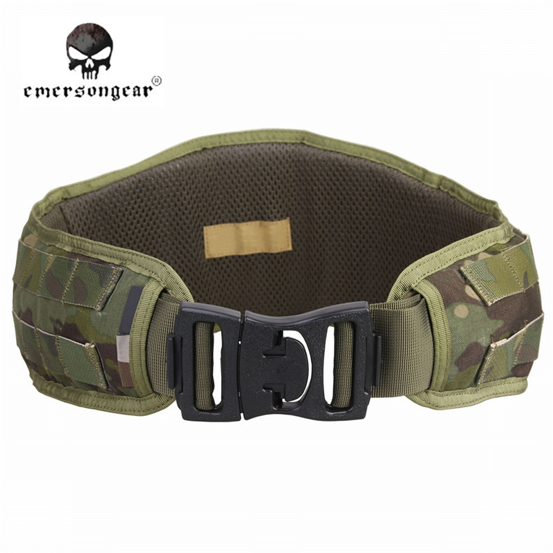 ФОТО EmersonGear 500D Nylon Molle Tactical Padded Belt Men Duty Belt Breathable Waist Band Hunting Gear Airsoft Wargame EM9086