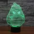 7 Ambiente de Vacaciones de color Decorativo regalo de Los Cabritos Juego PVZ Blanco Calabaza 3D Ilusion Gadget de Iluminación de Luz de La Lámpara Noche de Luz LED