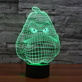7 color Holiday Atmosphere Decorative Kids gift PVZ Game  White Gourd 3D Ilusion Lamp Light  Lighting Gadget LED Night Light