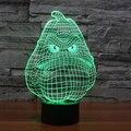 7 cores Do Feriado Atmosfera Decorativa Caçoa o presente PVZ Jogo Cabaça Branco 3D Ilusion Gadget de Iluminação Da Lâmpada de Luz Luz CONDUZIDA Da Noite