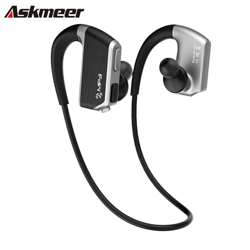 Earphones with microphone 2 pack - running earphones sports with memory
