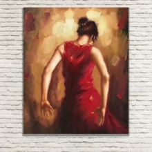 Hand Painted.Large size figure Paintings,the Pretty Gir Oil P Fashion.Living room, bedroom,Canvas Art Poster