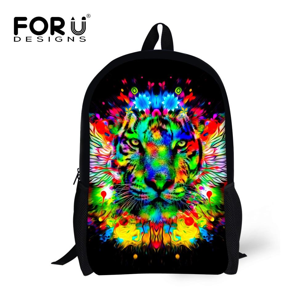 Punk Style 3D Animal Wolf Backpack School Bag Daypack Laptop Bag Big Backpacks For Teen Girls Boys