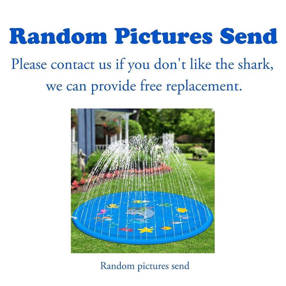 HTB1n3JyapP7gK0jSZFjq6A5aXXaD Outdoor Lawn Beach Sea Animal Inflatable Water Spray Kids Sprinkler Play Pad Mat Tub Swiming Pool  Beach Mat Cushion Toys