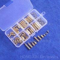 Yüksek Kalite 120 adet/takım Ucuz evrensel Altın Metrik 8 Boyutları M3 Pirinç Zıtlaşmalarından Somun Vidalar Ürün Çeşitliliği Kiti PCB standoff Set kutu