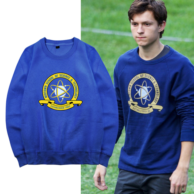 f517dafb8 Spider-Man Homecoming Hoodies Coat Superman Peter Parker Sweatshirts  Coaplay College Style O-neck Blue Long Sleeve Jacket Hooded