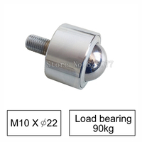 2PCS Precision Type Universal Ball Caster Wheel Load Bear 80kg With Bearing M10 Screw Flexible Durable