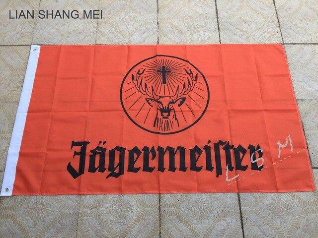 """2 סגנון דגל Jagermeister 3ft x 5ft פוליאסטר גודל מעופף באנר מותאם אישית מספר 4 144*96 ס""""מ"""