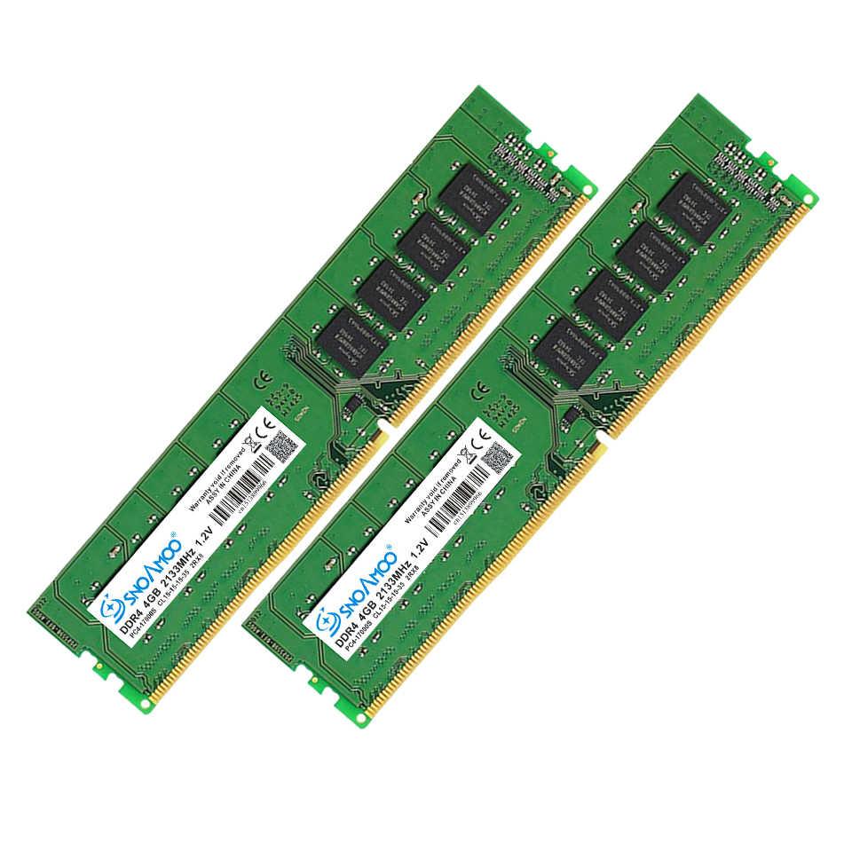 Настольный ПК SNOAMOO DDR4, ОЗУ 8 ГБ, 2133 МГц, CL1516, PC4-17000S, 1,2 В, 2Rx8, 288-Pin, DIMM для Intel ARM, компьютера, RAMs, пожизненная Гарантия