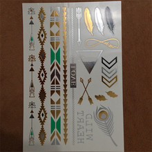 A Variety Of Patterns And Combinations Of Sexy Body Art Stickers Astigmatism Flash Golden Tattoo