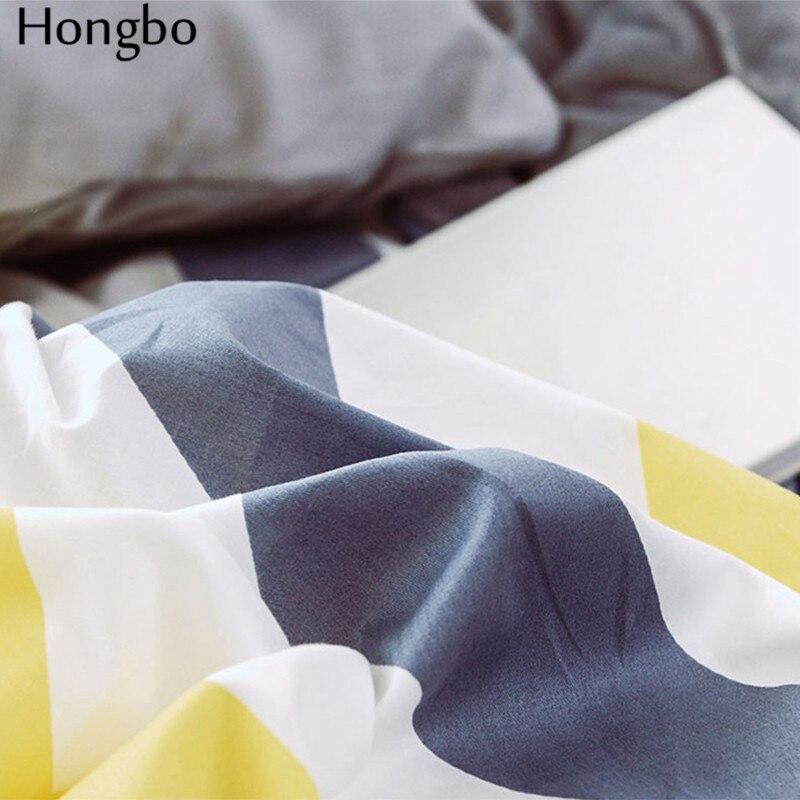 Hongbo хлопок + фланель многофункциональный AB с обеих сторон Серый Белый Желтый волнистый узор зимний пододеяльник - 5