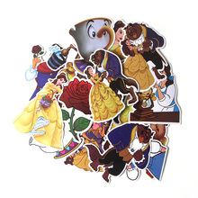 18 Pcs/set DMLSKY Beauty and the Beast Funny album sticker decals pvc Scrapbooking for phone luggage laptop Notebook DIY M3456
