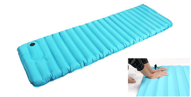 High Quality Air Inflatable Mattress Breathable Sleeping Bag Travel Moisture Proof Pad Mat Pvc