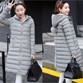 2016 New Winter Slim Down Jacket Women Hooded With Fur Ball Coat Solid Long Coats Fashion Warm Parka