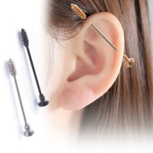 New Black Gold Silver Stainless Steel Arrow Industrial Barbell Ear Tragus Cartilage Helix Earring Stud Piercing Body Jewelry(China)