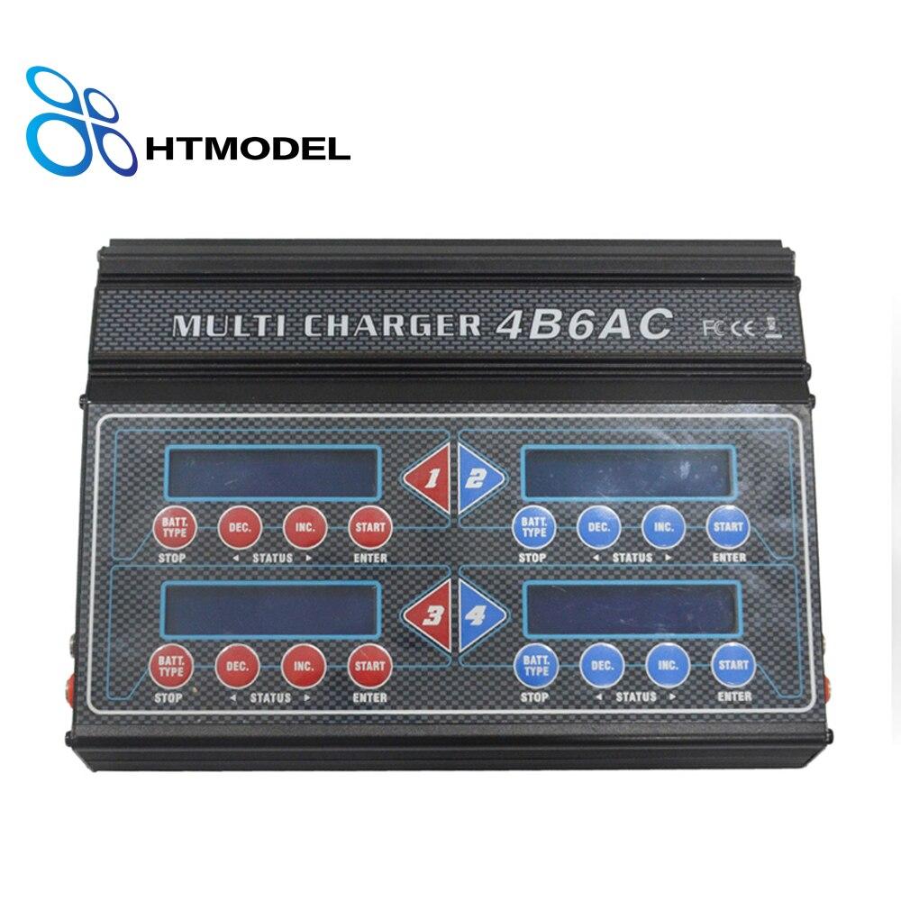 HTRC Professional 4B6AC Quattro RC Balance Charger Discharger Built-In AC for Ni-MH/Ni-CD/LiPo/LiFe/LiHv/pb/Smart Battery 110 240v al1411dv replace ni cd battery charger for bosch charger gdr12v gsb12v gsb14 4v gsr 7 2v gsr9 6v gsr12v gsr14 4v gsr18v