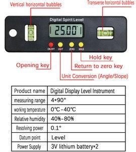 Image 5 - Caja de nivel Digital de 100/150/200mm medidor de ángulo electrónico buscador del ángulo del transportador Indicador de biselado con Base magnética