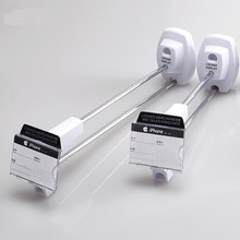 (100 pcs/pack ) white color 180mm length high quality shop slat wall security display hook