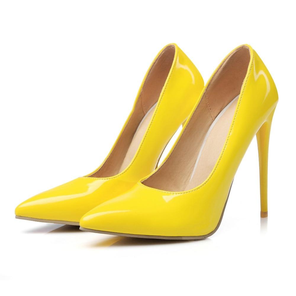 Online Shop YX GIRL Brand Shoes Woman Pumps Red High Heels 12cm Women Wedding Black Nude Plus Size 47