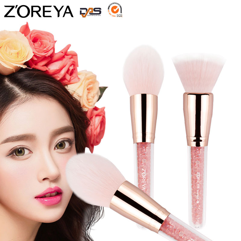 Beauty 4pcs set Multifunctional Makeup Brush Acrylic Diamond Handle Brush Foundation Concealer Blush Powder Brush Makeup